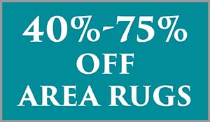 Area rugs 40 - 75% off this month at Abbey Carpet & Floor in Naples.