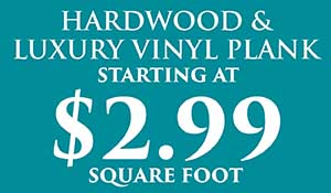 Hardwood flooring on sale $2.99 sq.ft. with free installation this month at Abbey Carpet & Floor in Naples.