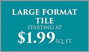 Tile on sale $1.99 sq.ft. this month at Abbey Carpet & Floor in Naples.