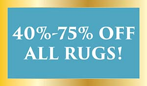 40-75% off all rugs