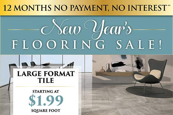 Large format tile starting at $1.99 sq.ft. this month only!